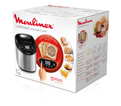 Machine à pain Nutribread 1kg Inox