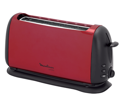 grille pain toaster subito rouge noir moulinex. Black Bedroom Furniture Sets. Home Design Ideas
