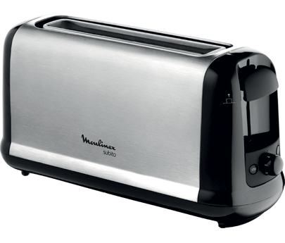 grille pain toaster inox noir subito moulinex. Black Bedroom Furniture Sets. Home Design Ideas