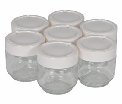 moulinex pots yaourt en verre x7 a14a03. Black Bedroom Furniture Sets. Home Design Ideas
