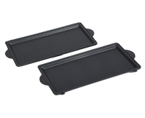 Plaques grill lisses x 2 - TS-01034860